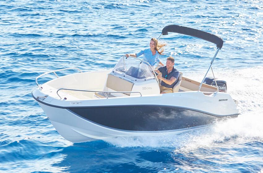 Barche open e cabinati senza patente per giornate in mare